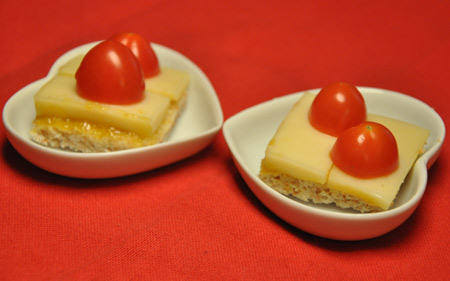 Bouches-tomate-emmental