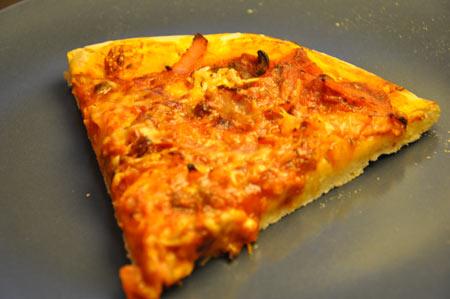 Pizza maison lardon, chorizo et poivron jaune   Click n' Cook