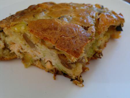 Cake Chorizo Fort Champignons Gruyere
