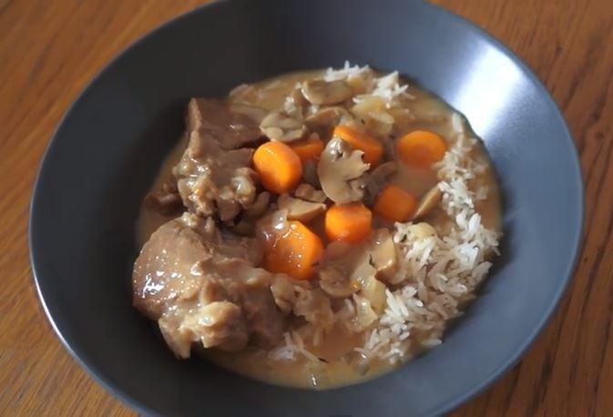 Blanquette de veau avec le cuisine companion de moulinex vid o click n 39 cook - Recette de cuisine blanquette de veau ...